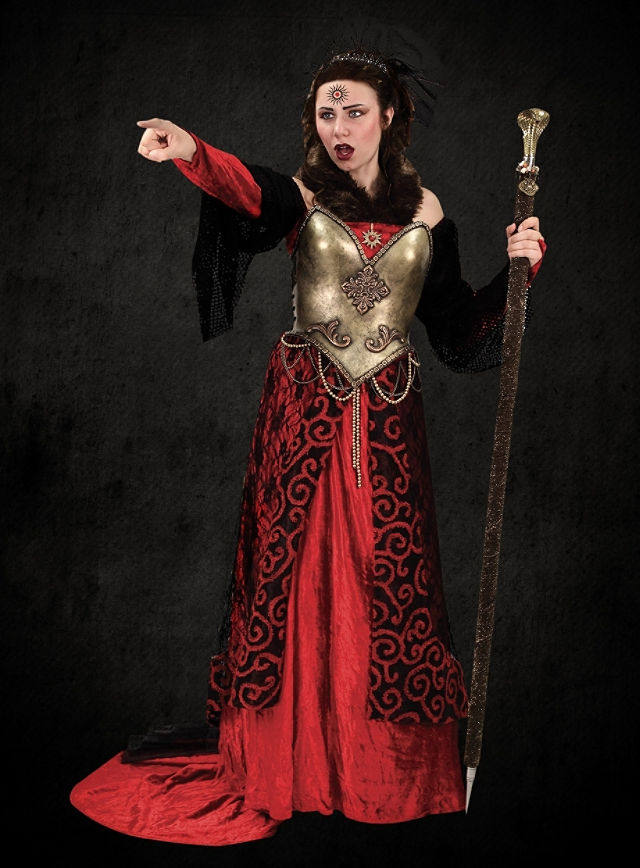Costume - Fantasy Black and Red Dress ...  sc 1 st  The Viking Store & Costume - Fantasy Black and Red Dress - TheVikingStore.co.uk